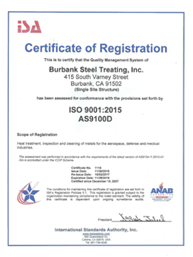 Burbank Steel Treating, Inc